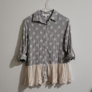 Anthropologie Mineola Eyelet Top